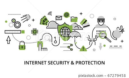Infographic concept of internet security 67279458