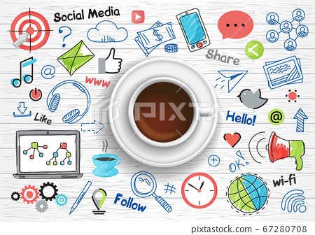 Concept of social media for graphic and web design 67280708