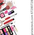 Cosmetics set, hand drawn style 67280728