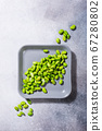 Green fresh soybeans 67280802