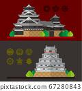 Illustrations of Kumamoto Castle and Karatsu Castle in Japan 67280843