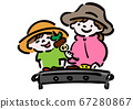 戶外 燒烤 父母和小孩 67280867