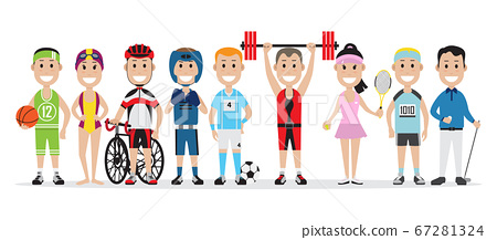Set of people related to the different sports 67281324