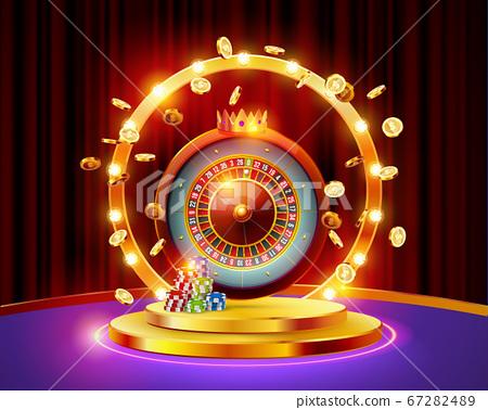 Realistic casino gambling roulette 67282489