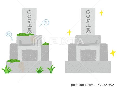 清潔前的墳墓和清潔後的墳墓 67285952