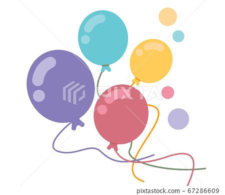 Bunch of balloons in flat style on white 67286609