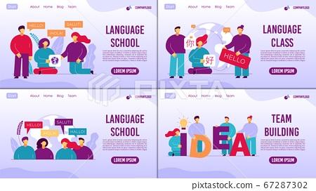 Language school online class teambuilding set 67287302