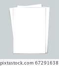 Several documents. Sheets of paper. Vector 67291638