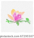 Watercolor pattern. Pink flower petal. watercolor drawing. 67295507