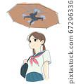 使用無人機傘的女孩 67296336