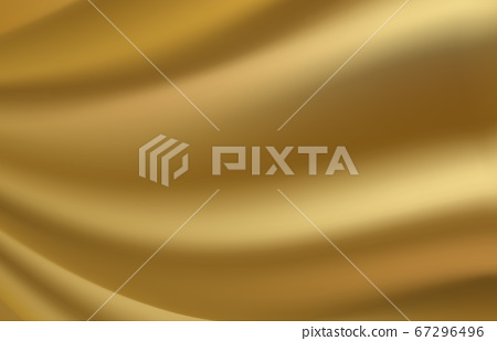 Golden abstract background fabric texture. Vector illustration 67296496
