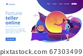 Fortune telling concept landing page 67303499