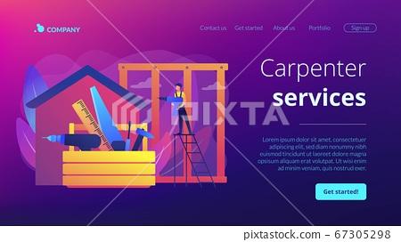 Carpenter services concept landing page 67305298
