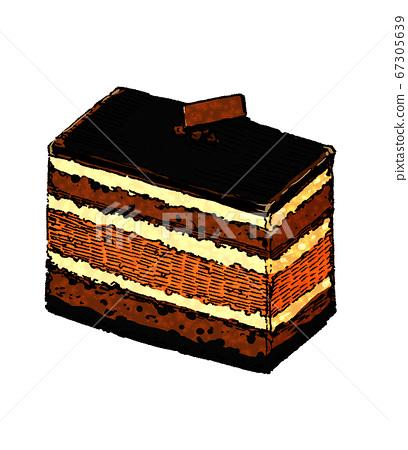 Illustration of chocolate cake 67305639