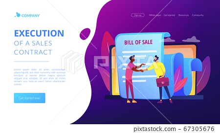 Bill of sale concept landing page 67305676