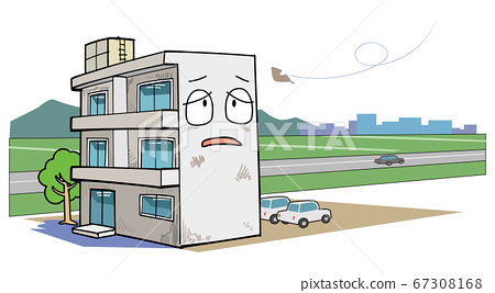 農村的一個孤獨的公寓 67308168