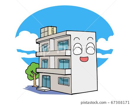 和平舒適的公寓 67308171