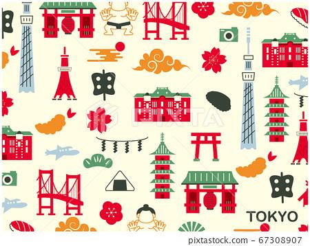 도쿄 관광 일러스트 67308907
