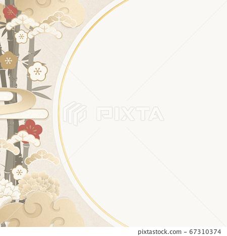 日式背景材料-香檳金-Shochiume 67310374