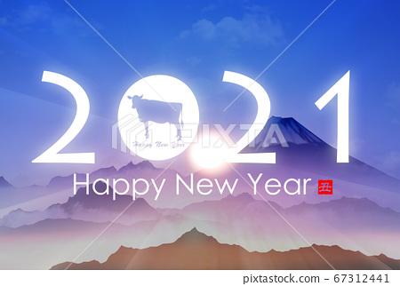 2021 년 소띠 연하장 67312441