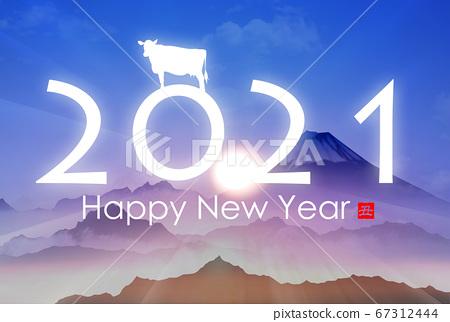 2021 년 소띠 연하장 67312444