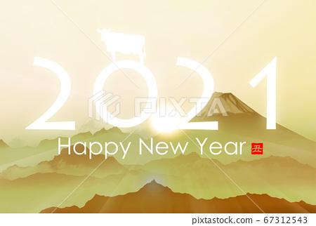 2021 년 소띠 연하장 67312543