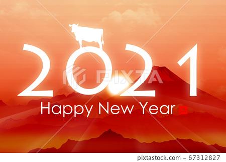 2021 년 소띠 연하장 67312827
