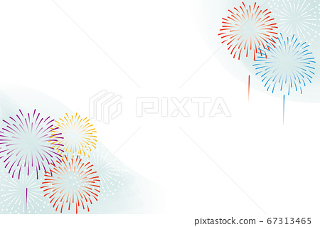 Colorful fireworks background illustration 67313465
