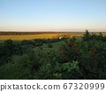 Landscape with river and trees, fields and cloud sunder the sun, smart 67320999