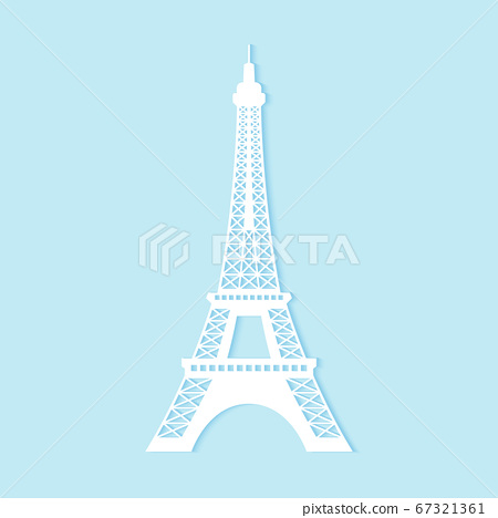 Eiffel tower, paper art style 67321361