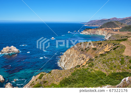Big Sur is a sparsely populated region of the central California 67322176