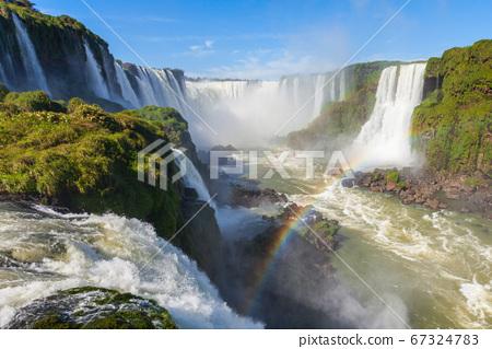 Iguazu Falls or Waterfall landscape 67324783
