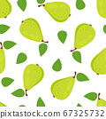seamless pattern with pears isolated on white 67325732