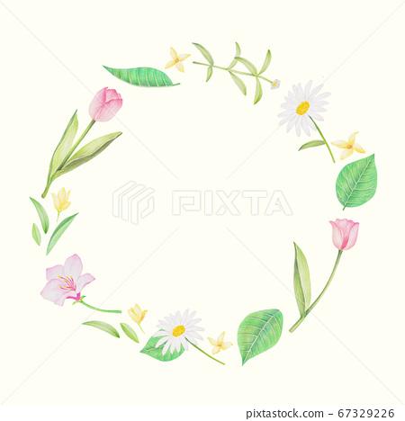 春天的花朵彩色鉛筆 67329226