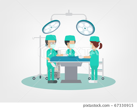 Surgeon team in surgery room 67330915