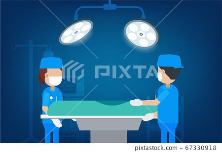 Surgeon team in surgery room 67330918