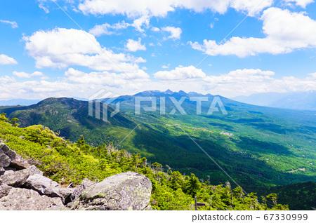 초여름의 蓼科山 등산 : 여자 乃神 찻집 (蓼科山 등산로 입구) 코스의 풍경 67330999