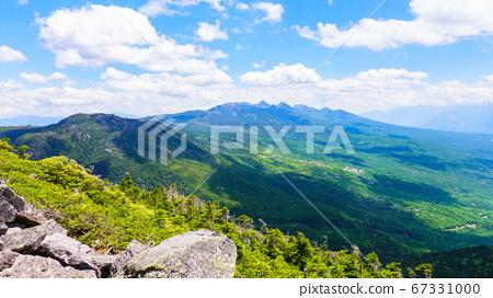 초여름의 蓼科山 등산 : 여자 乃神 찻집 (蓼科山 등산로 입구) 코스의 풍경 67331000
