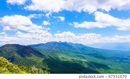 초여름의 蓼科山 등산 : 여자 乃神 찻집 (蓼科山 등산로 입구) 코스의 풍경 67331070
