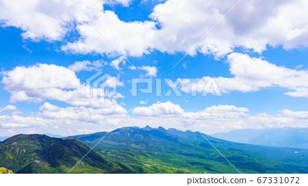 초여름의 蓼科山 등산 : 여자 乃神 찻집 (蓼科山 등산로 입구) 코스의 풍경 67331072