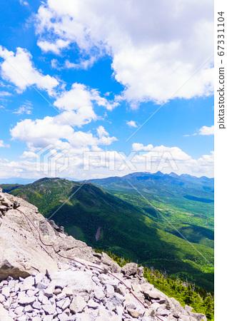 초여름의 蓼科山 등산 : 여자 乃神 찻집 (蓼科山 등산로 입구) 코스에서 바라 타케 67331104