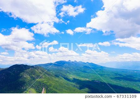 초여름의 蓼科山 등산 : 여자 乃神 찻집 (蓼科山 등산로 입구) 코스에서 바라 타케 67331109