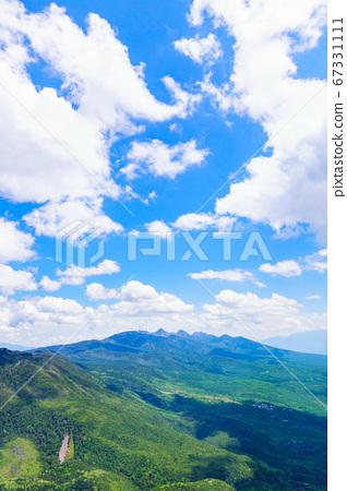 초여름의 蓼科山 등산 : 여자 乃神 찻집 (蓼科山 등산로 입구) 코스에서 바라 타케 67331111