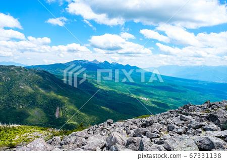 초여름의 蓼科山 등산 : 정상에서 바라 타케 67331138