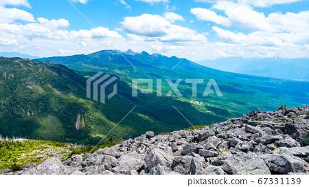 초여름의 蓼科山 등산 : 정상에서 바라 타케 67331139
