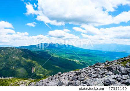 초여름의 蓼科山 등산 : 정상에서 바라 타케 67331140