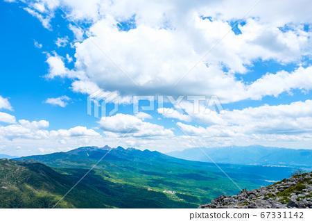 초여름의 蓼科山 등산 : 정상에서 바라 타케 67331142