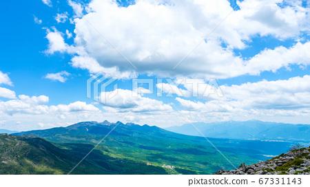 초여름의 蓼科山 등산 : 정상에서 바라 타케 67331143