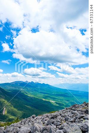 초여름의 蓼科山 등산 : 정상에서 바라 타케 67331144