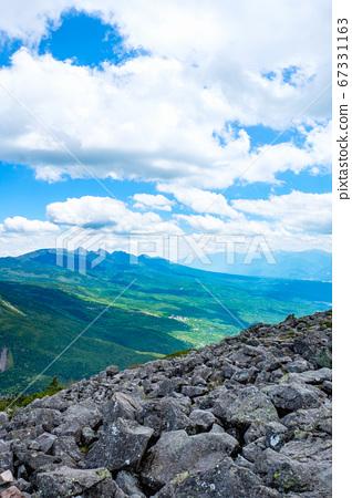 초여름의 蓼科山 등산 : 정상에서 바라 타케 67331163